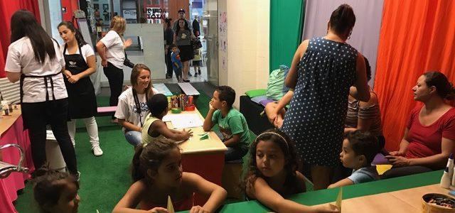 Espaço Criativo do Floripa Shopping oferece oficinas gratuitas para as crianças
